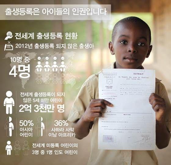 [유니세프] 전 세계 2억3천만 명 어린이 서류상 존재 안해 [인포그래픽] | 비주얼다이브