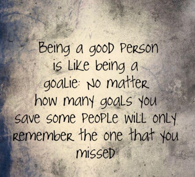 Goalie quote!                                                                                                                                                                                 More