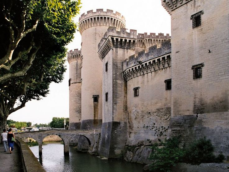 Chateau de Tarascon, Provence ~ The castle of Tarascon is exceptionally well preserved, it is one of the finest medieval castles in France. The palace, begun in 1400 by Louis II of Anjou and completed by his son King René, a majestic gait feudal.