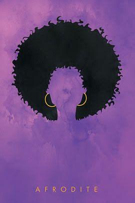 Afro gal