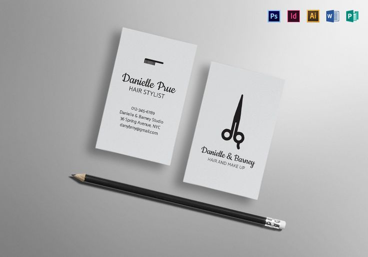 85 best business card designs images on pinterest business card hair stylist business card template cheaphphosting Image collections