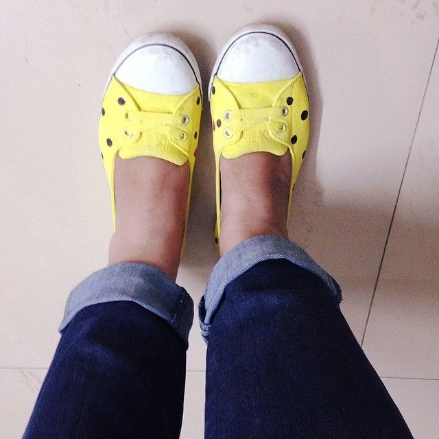 Recycled my old shoes into bright new ones | The Bangalore Snob