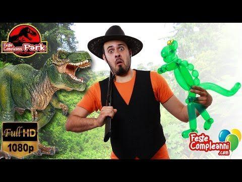 Jurassic World T-REX Balloon - Palloncino dinosauro -  how to twist a dinosaur with balloon art.   T-REX Balloon - scultura con palloncini - Siete pronti per entrare nel Nostro Parco dei Dinosauri? Vedremo come realizzare una scultura con i palloncini a forma di T-REX, il re dei dinosauri!!