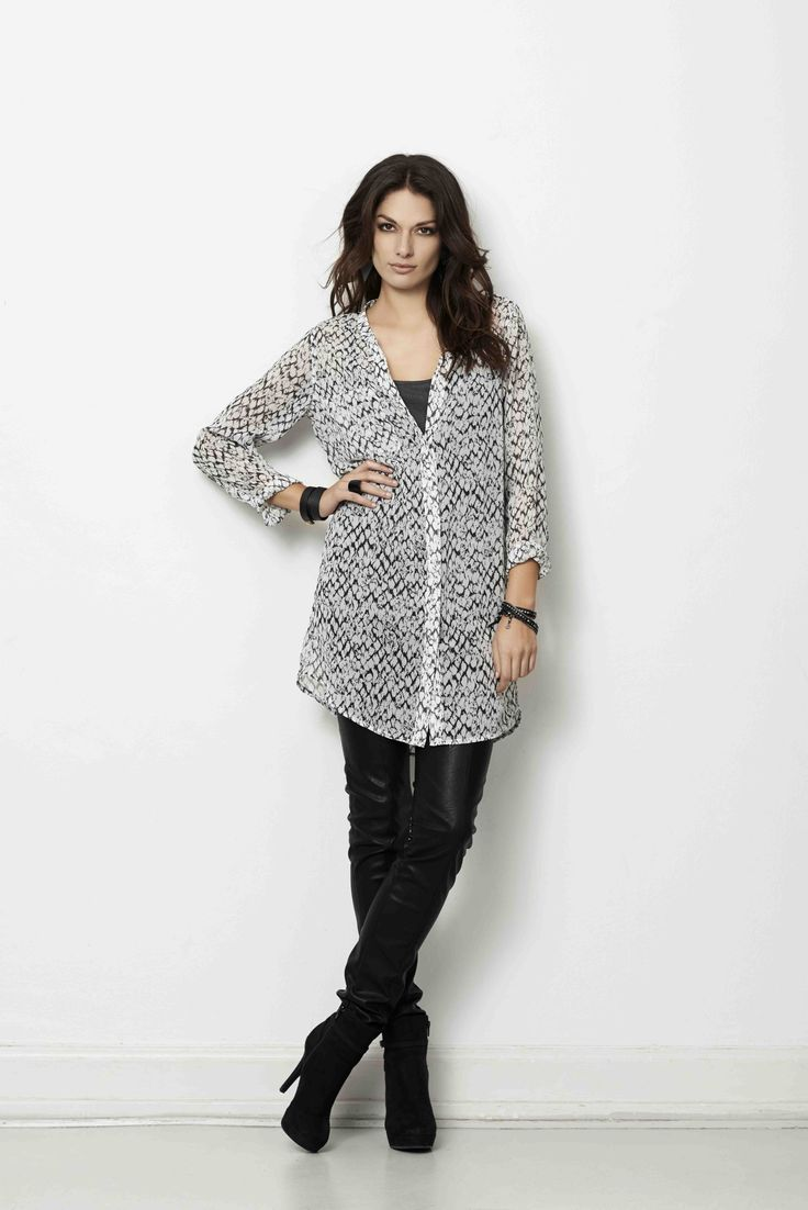 soyaconcept - shirt - tunic - top - pants leather pants - leather