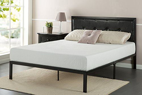 The Zinus Faux Leather Classic Platform Bed with strong steel support is attractively styled and will provide excellent support for your mattress. It ships in one carton including the frame, legs, and steel slats for easy assembly. This Platform Bed features espresso colored button tufted faux... more details available at https://furniture.bestselleroutlets.com/bedroom-furniture/beds-frames-bases/beds/product-review-for-zinus-faux-leather-classic-platform-bed-frame-with-steel
