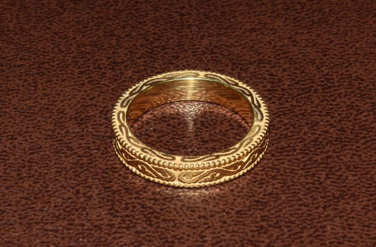 His And Hers Wedding Band Goldsmith Made 3D Gold Ring 14k