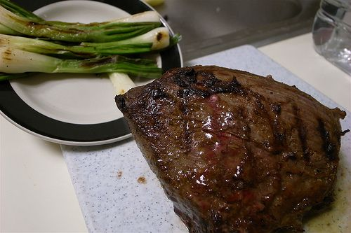 Roasted Tri Tip and Grilled Green Onion by naotakem, via Flickr