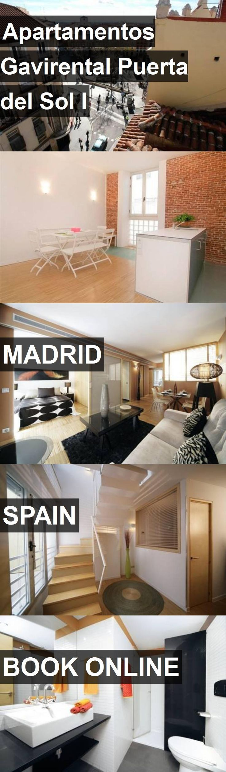 Hotel Apartamentos Gavirental Puerta del Sol I in Madrid, Spain. For more information, photos, reviews and best prices please follow the link. #Spain #Madrid #travel #vacation #hotel