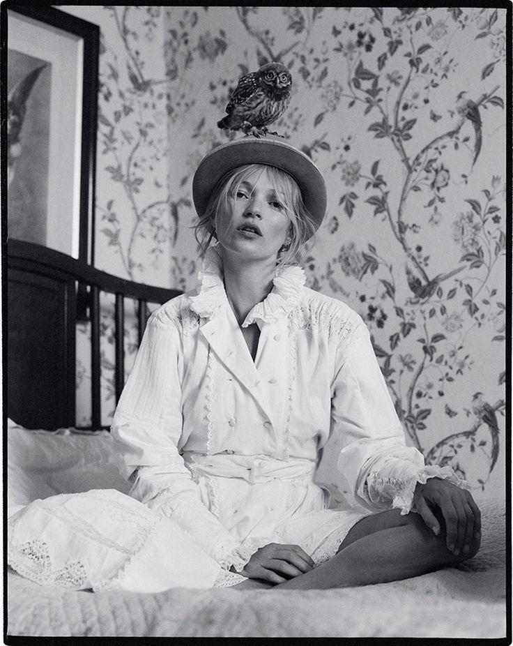 Kate Moss \ Doodley the owl \/\/ Tim Walker Portraits Pinterest - brigitte k chen h ndler