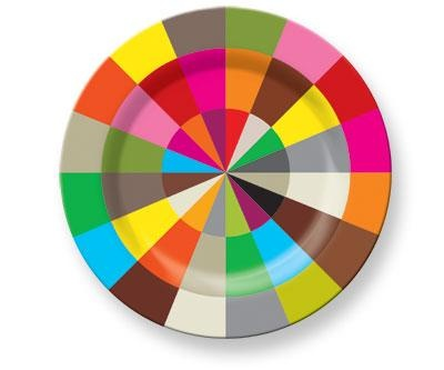 Color Wheel Plate by French Bull