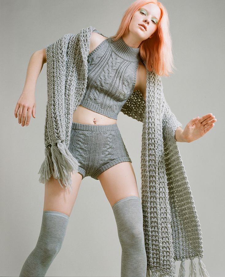 Got Cable Crop Sweater & Got Cable Sweater Shorts #nastygal #editorial #fallfashion