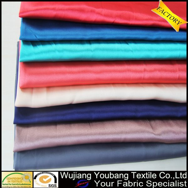 2016 newly soft shiny flannel back satin fabric