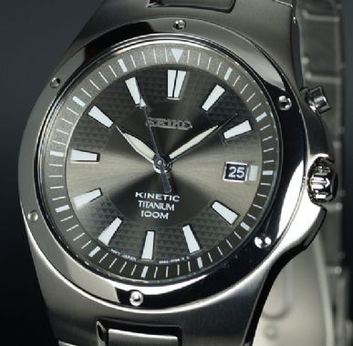 Seiko Kinetic 100Mtr Full Titanium SKA397P1