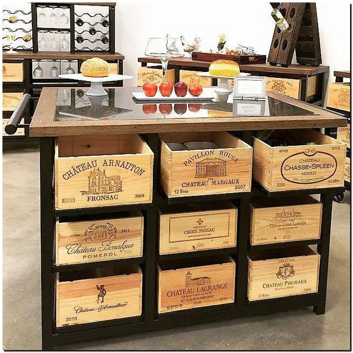 Build this amazing kitchen pantry right under your kitchen counter top. Get uniform sized wooden crates and set them as drawers under the kitchen counter top and store your fruits, vegetables and other kitchen items in a thrifty and organized manner. You will surely love this storage space.
