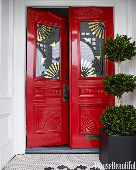 Best Red For Front Door: 90 Best Images About Front Doors On Pinterest