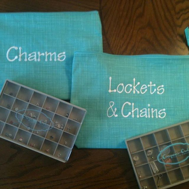 Personalize the Zipper Pouch to store your jewelry!