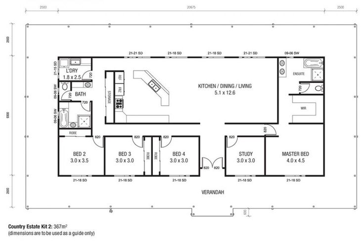 Country Estate 2 Floor Plan