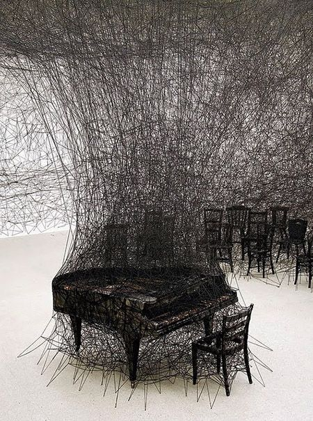 Silence, art installation by Chiharo Shirotain.