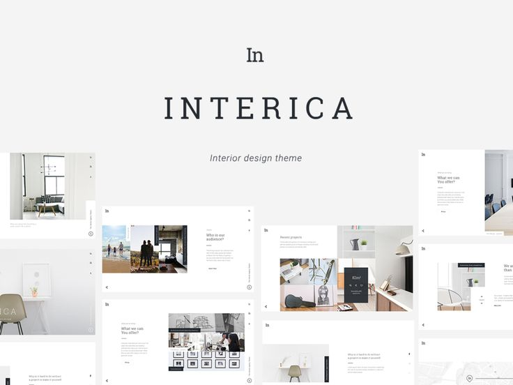 Free Download Interior Website Template PSD