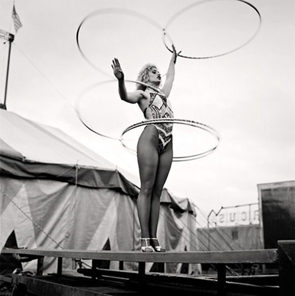 When being a hoopist was a circus act.