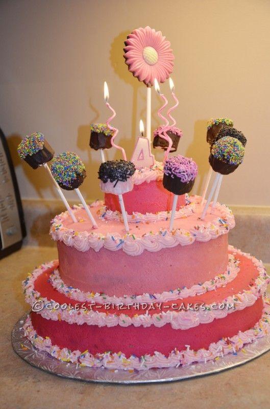 DIY Princess Marshmallow Pop Cake