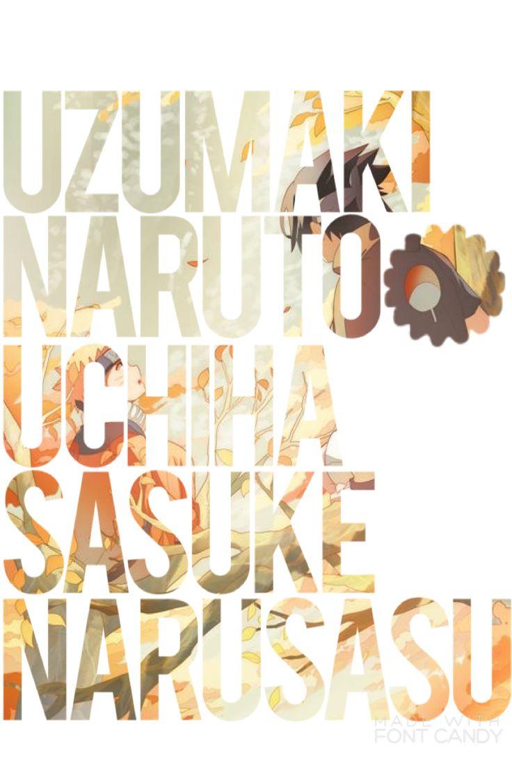 Naruto And Sasuke  By Ash Carter  https://www.pinterest.com/AnimeAllstar/