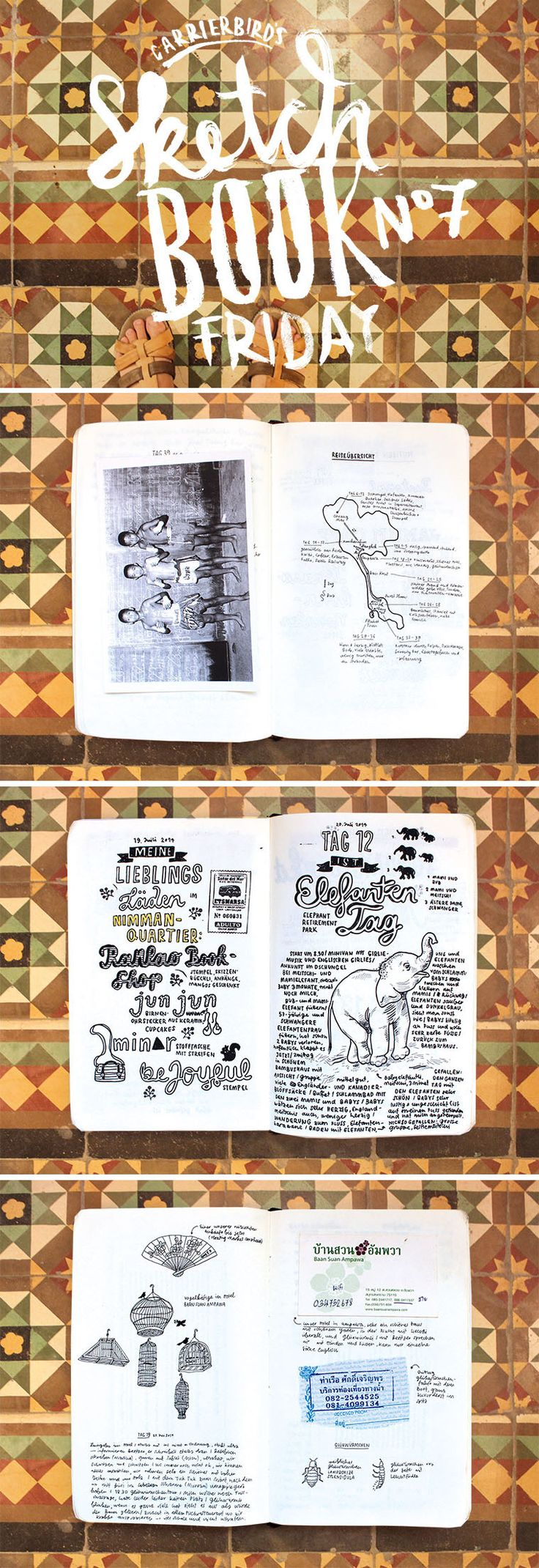 Carrier Bird's Sketchbookfriday No.07