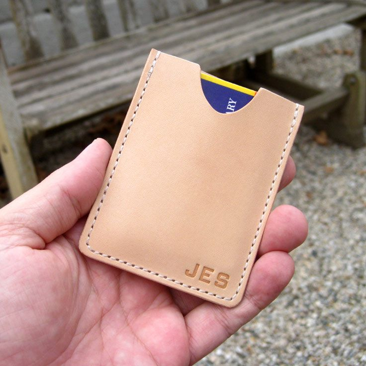 Personalized money clip wallet by Tagsmith