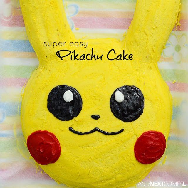Easy Pikachu Cake Tutorial In 2019 Cooking Amp Baking Tips