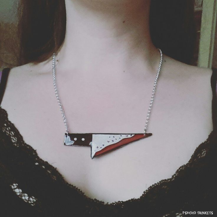 www.facebook.com/psychotrinkets #psychobilly #jewellery #knives #bloody #gothabilly #etsy