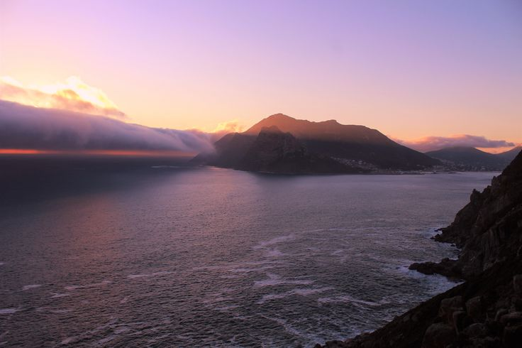 Chapman's Peak Sunset.  A cold front that came out of nowhere from the south.   #sky #sea #beauty #sunset #water #beach #travel #sun #sunlight #clouds #ocean #rocks #seascape #sundown