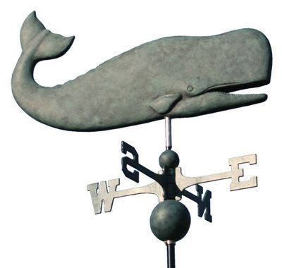 Nantucket Whale Cottage Style Weathervane.  Had this on our old house.  I miss it. Need to get another.