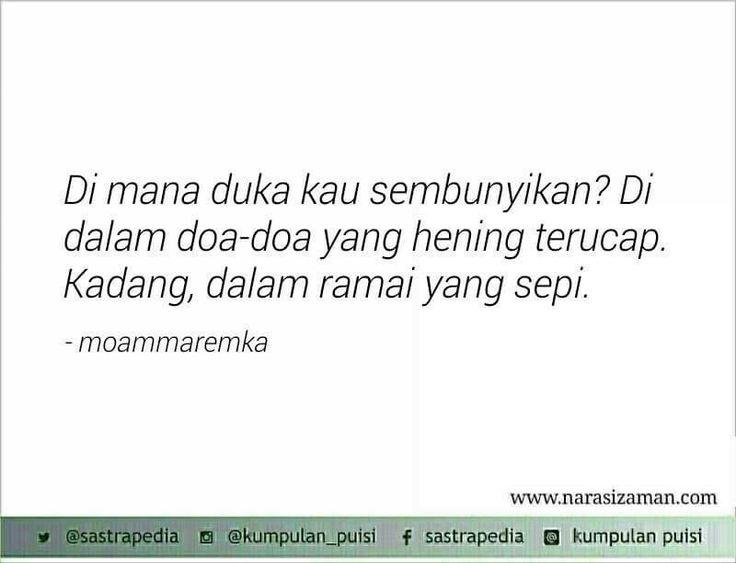 Kadang, dalam ramai yang sepi.. Puisi Moammar Emka
