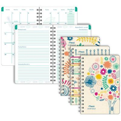 Shop Staples® for Mead® 2016/2017 CustoMYize Weekly/Monthly Planner, 5-3/8'' x 8-5/16'', Assorted Cover Designs, Bilingual and enjoy everyday low prices, and get everything you need for a home office or business.