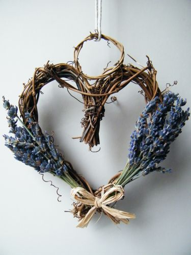 lavender heart wreath! Very delicate and lovely.