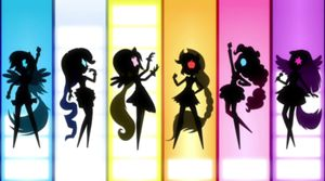 My Little Pony Equestria Girls Rainbow Rocks theme song. Totally awesome