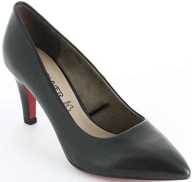 s.Oliver női bőr magassarkú cipő