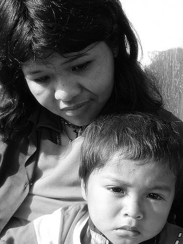 Mãe e Filho (Indígenas): Mãe