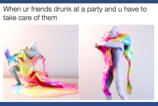 When you don't get as drunk as everyone else and have to be a goddamn hero: | 19 Fucking Funny Pictures About Being Drunk