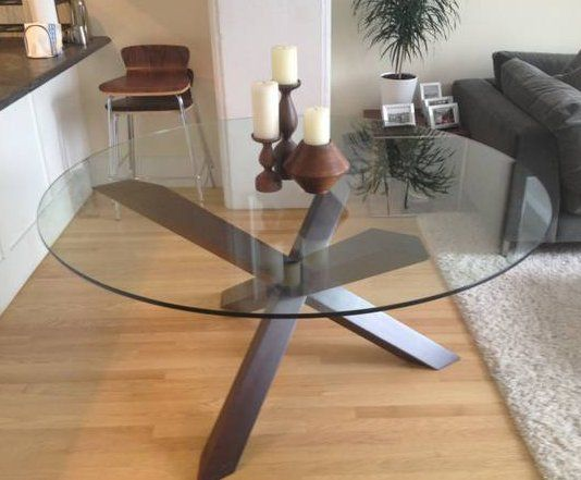 Glass Top Round Dinner Table 60 Inch Dinner Table