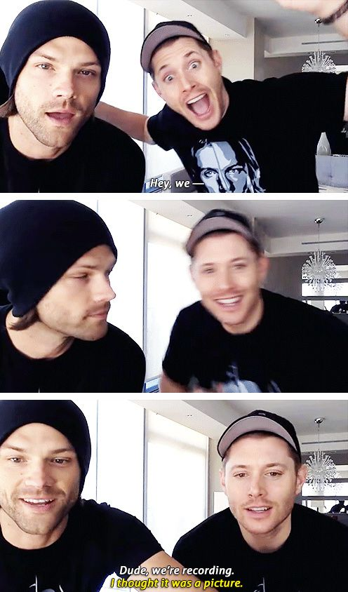 [gifset] Jensen and Jared on Facebook. This is my new favorite thing!