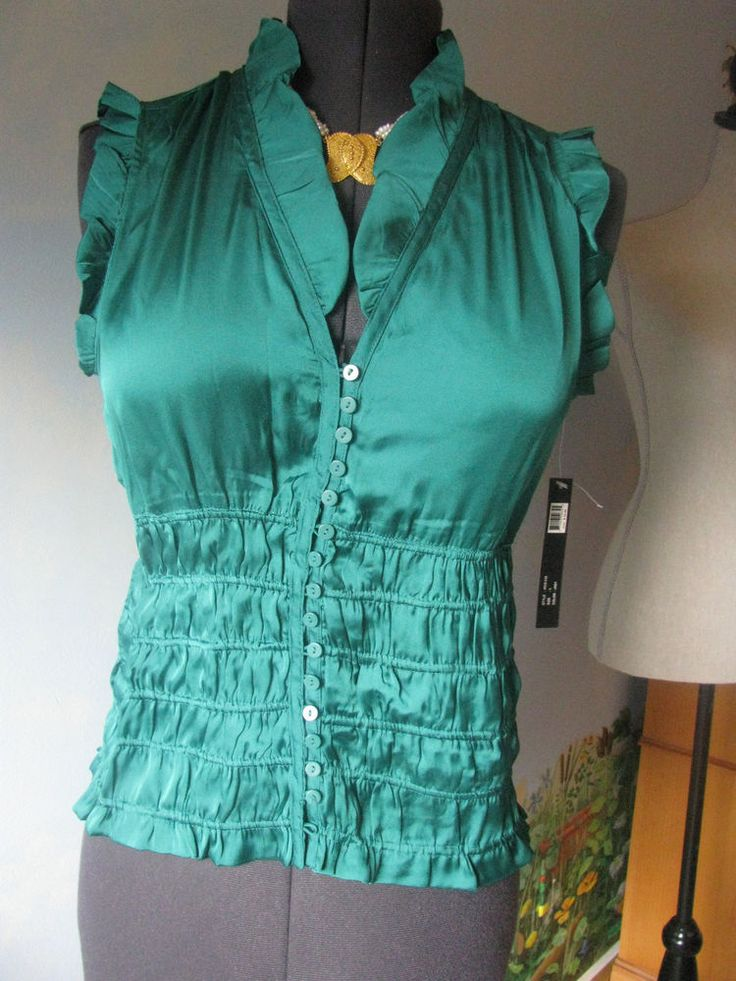 ESSENTIALS BY MILANO GREEN  WOMEN TOP/BLOUSE SZ L NWT RETAIL PRICE $58 #ESSENTIALSBYMILANO #TOPBLOUSE