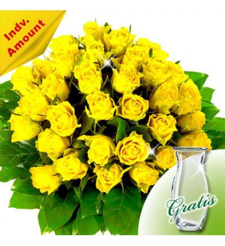 Freundschaft und Dankbarkeit mit gelben Rosen verbreiten