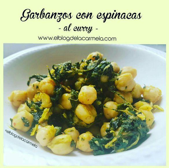 Garbanzos con espinacas al curry