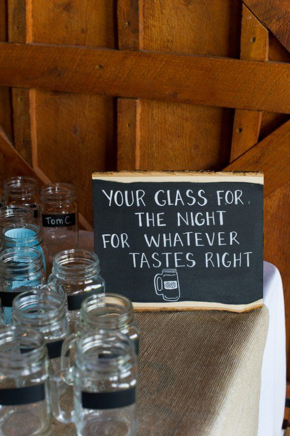 Mason Jars For Wedding Drinks