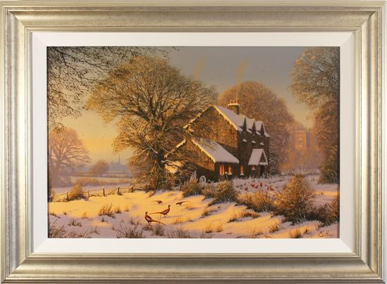 Edward Hersey, Original oil painting on canvas, Afternoon Glow, Yorkshire Dales