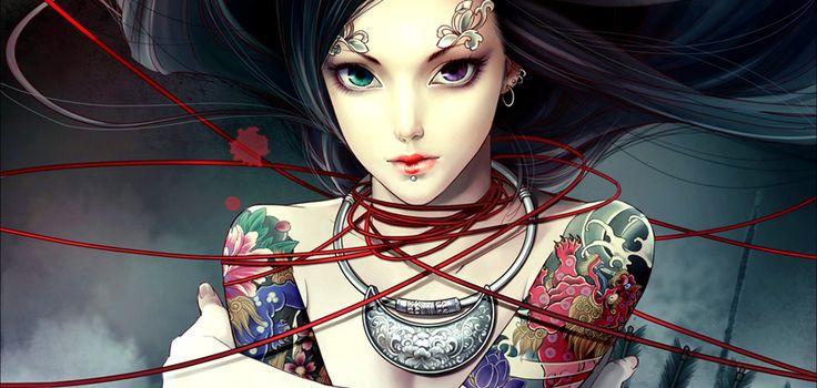 Tattoos en piercings for girls; hot or what? - via Fleur @urbanchicksnl
