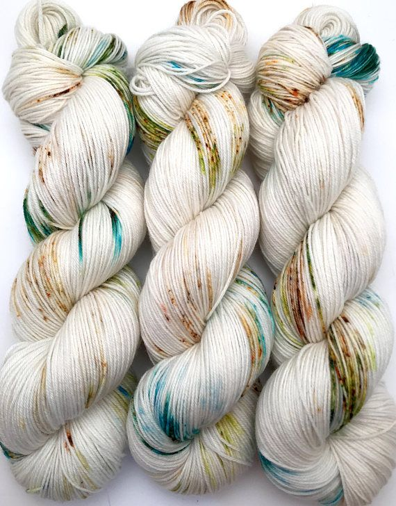 Hand Dyed Yarn Will-o'the-Wisp Turquoise