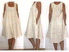 patron de couture et vidéo du cours de couture à télécharger - Robe à pois avec des poches dans la couture