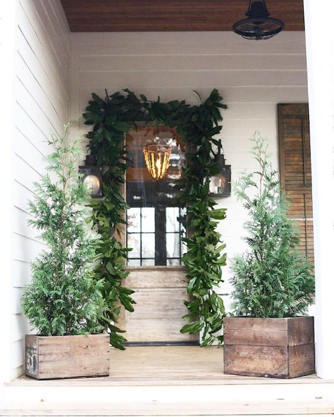 Boho Christmas Decor Front Porch